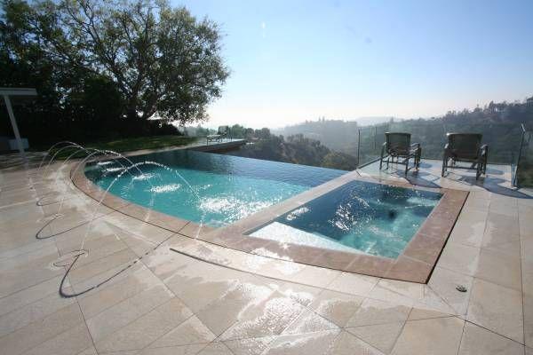 109 best hillside pool images on pinterest dream pools - Salt water swimming pools los angeles ...
