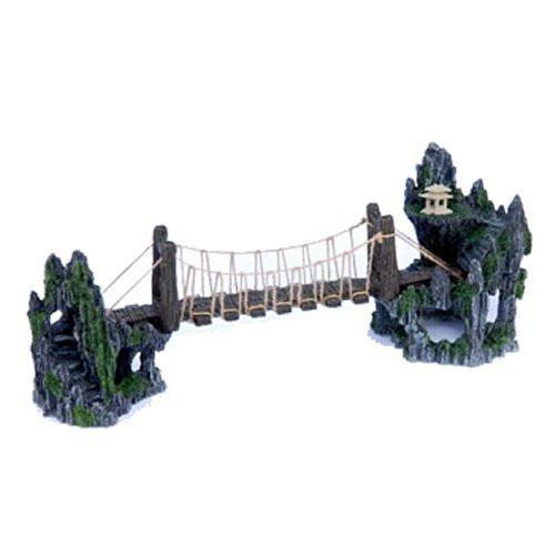 """Penn Plax Troll Bridge Aquarium Ornament - 20L x 5W x 8H in. 20"""" x 5"""" x 8"""""""