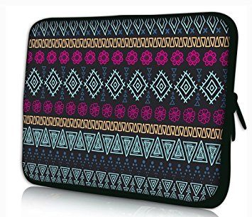 """MySleeveDesign 15"""" Laptoptasche Notebooktasche - Laptop Sleeve Notebook Tasche Case Hülle für 15 - 15,6 Zoll Laptops - Neopren Schutzhülle mit VERSCH. DESIGNS - Aztec Dark - 15"""