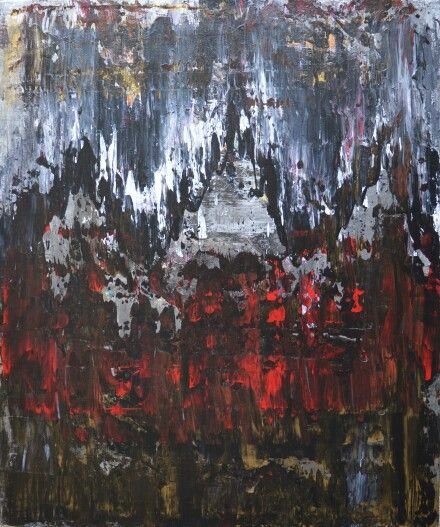 Canadian Abstract art by Robert Martin Abstracts. Tibet 20x24x1.5in. In acrylic on canvas