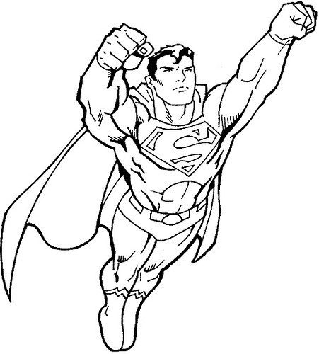 Dibujos e Imágenes de Superman para Pintar, Imprimir y Colorear
