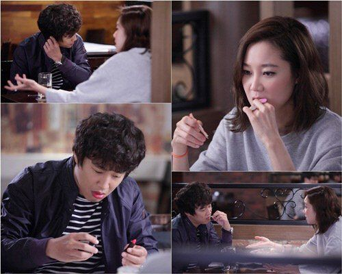 """Cha Tae Hyun Sports Pink Lipstick in New """"Producer"""" Stills with Gong Hyo Jin"""