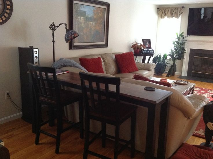using sofa table as dining table - Google Search