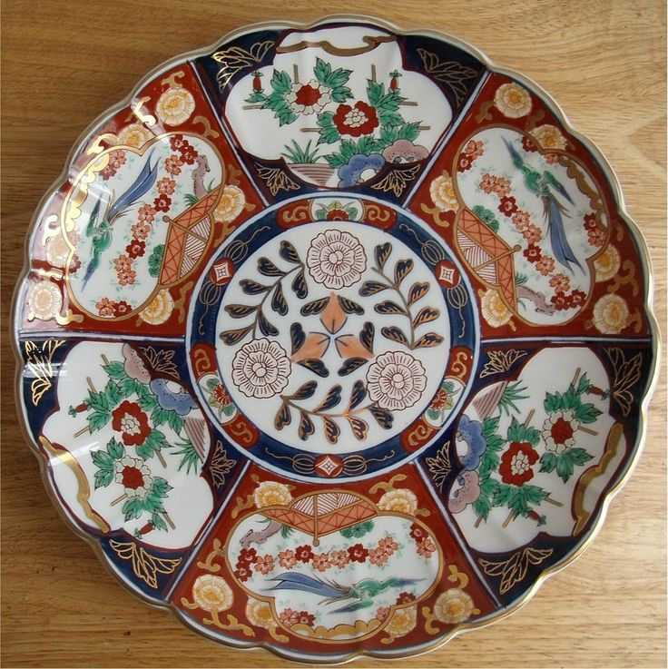 Gold Imari Collector Plate Hand Painted Charger Plate Made In Japan