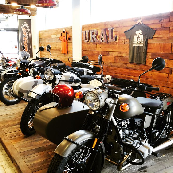 Ural showroom at Goulet moto sports