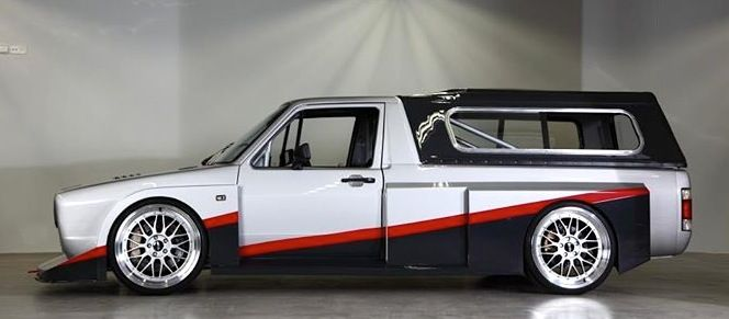 Volkswagen Race Truck. love the front... little skeptical on the Kremer 935 style rear flares