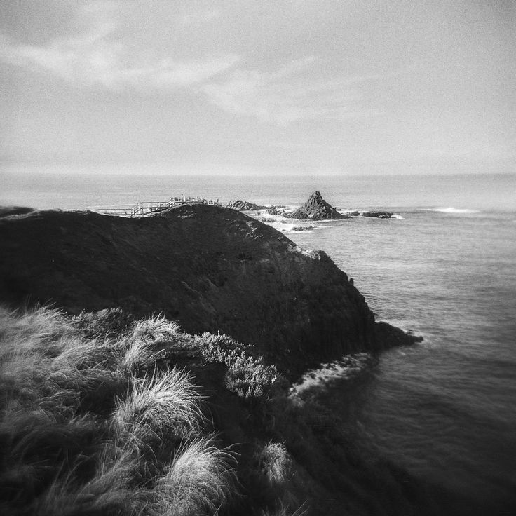 https://flic.kr/p/VB8BzH | Philip Island | Philip Island, Victoria, Australia.  March 2010.  Holga Lomography.  Black and white film negative.  Flat bed scan.  Adobe CC Ps for dust removal and curves adjustment.