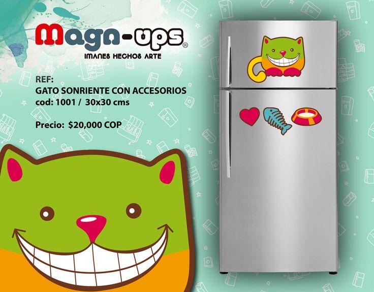 Los MAGNUPS ® son imanes flexibles de 0.4 mm, elaborados con la mejor tecnología para garantizar una larga duración. Son de fácil limpieza y con sus diseños originales, los MAGNUPS ® son perfectos para dar vida a cualquier superficie metálica de tu hogar.  Contactanos al correo magnups@gmail.com  Whatsapp : 57 300 676 91 49  Hacemos envíos a todo Colombia. #imanes #decoración #hogar #cat #nevera #original #Colombia #cocina