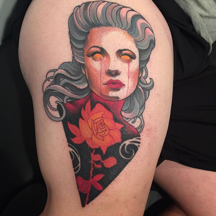 17 best images about woman neo traditional tattoo on for Tattooed girl instagram