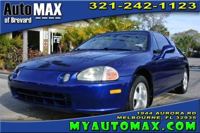 This 1993 Honda Civic del Sol Si is listed on Carsforsale.com for $5,990 in Melbourne, FL. This vehicle includes Front Wheel Drive,Tires - Front On/Off Road,Tires - Rear On/Off Road,Aluminum Wheels,Power Steering,4-Wheel Disc Brakes,Power Mirror(s),Intermittent Wipers,Adjustable Steering Wheel,Power Windows,Cruise Control,Rear Defrost,Passenger Vanity Mirror,Driver Air Bag