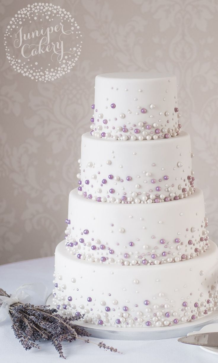 Modern Pearl Wedding Cake By Juniper Cakery - (junipercakery)