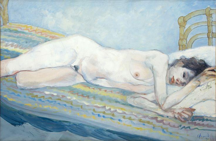 Carlos Alonso | Desnudo | c. 1990 | Óleo sobre cartón| 101 x 152 cm