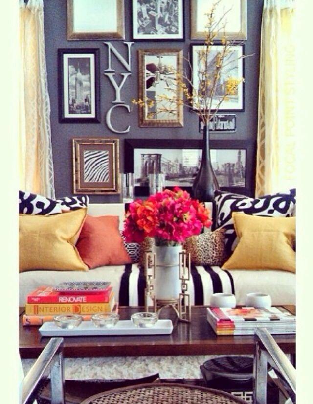 Beautiful, bright living room colors