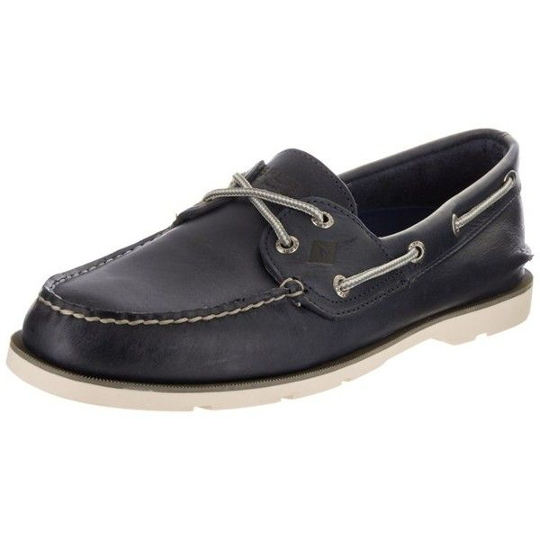 Sperry Sperry Top-Sider Men's Leeward X-Lace Boat Shoe | Bluefly.Com ($80) ❤ liked on Polyvore featuring men's fashion, men's shoes, men's loafers, blue, shoes, mens topsiders, sperry top sider mens shoes, mens lace up shoes, mens deck shoes and mens blue shoes