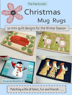 Christmas Mug Rugs ~ The Patchsmith..this lady designs the cutest mug rug patterns and they are reasonably priced too...such fun designs. http://thepatchsmith.blogspot.com/