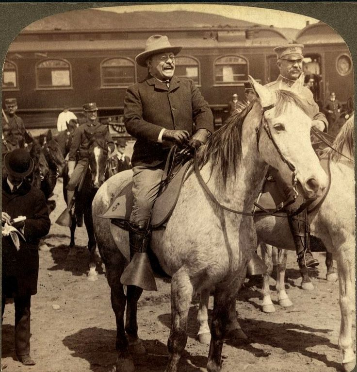 Teddy Roosevelt - Preparing to go into Yellowstone National Park 1903 #history