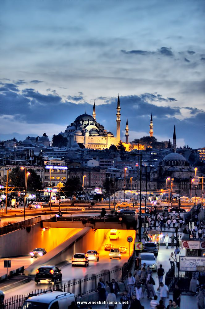 #AMERICANAPPAREL #PINATRIPWITHAA Istanbul, because one day, I want to stand in that exact place, look at the lights, the colors, the people...and just enjoy it.