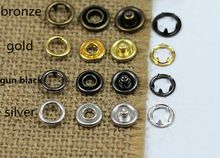 2016 Buttons Botones 200 Sets/lot 9.5mm Hollow Buckle Cairica Copper Button New Baby Romper Clothes Sewing Crafts Accessory