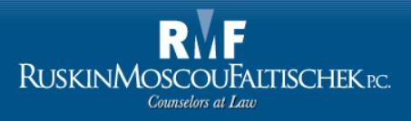 Vivian Breier - Partner - Ruskin Moscou Faltischek ~ As specialized as we are diverse, we have built cornerstone groups in all of the major practice areas of law. www.rmfpc.com