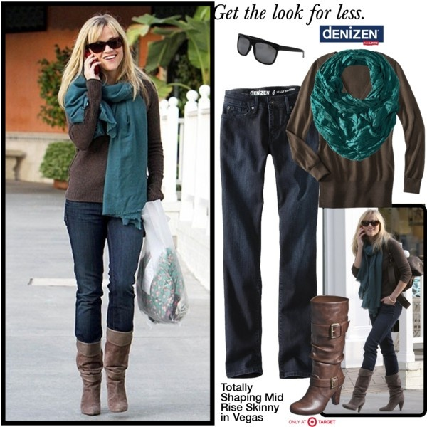 Reese Witherspoon even shops in #style! Get the look for less with #DENIZEN #jeans only at #Target.
