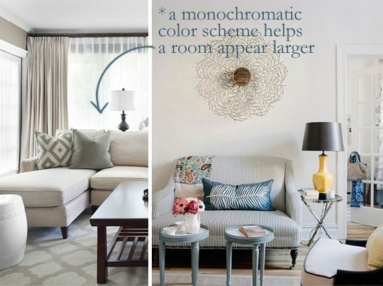 small space monochromatic scheme makes a room appear