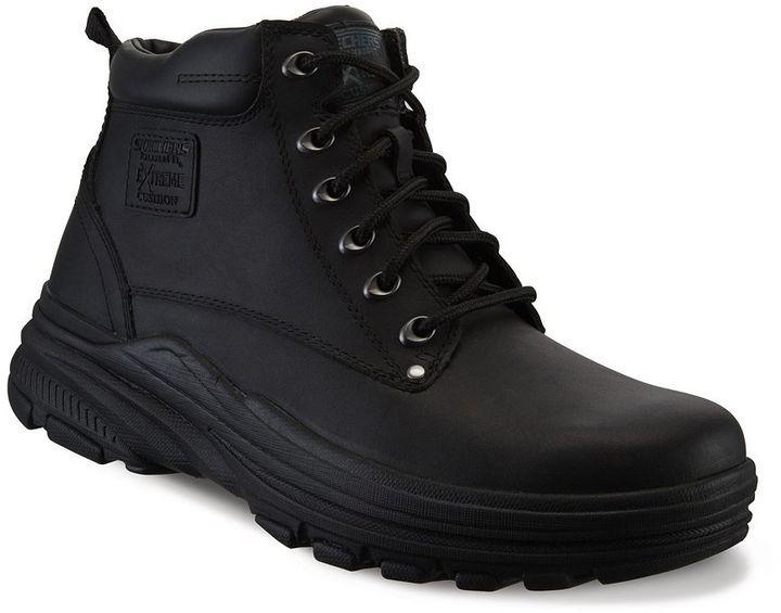 sketchers mens boots. skechers relaxed fit holdren norman men\u0027s boots sketchers mens