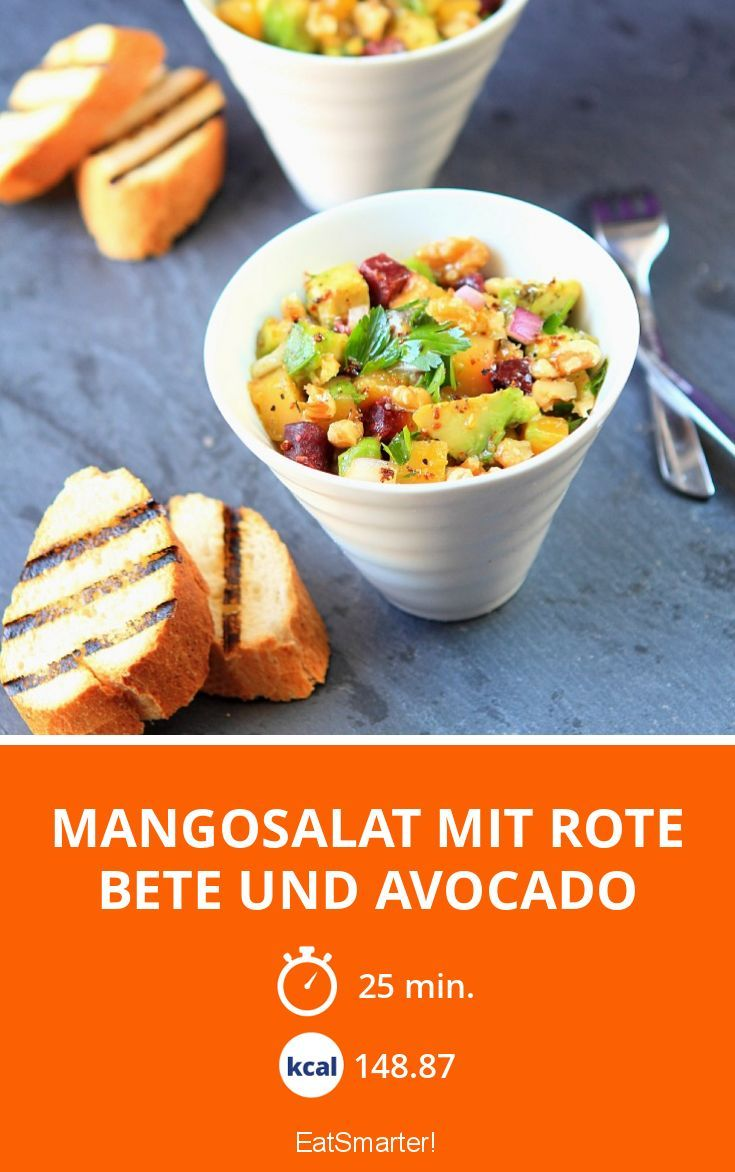 Mangosalat mit Rote Bete und Avocado