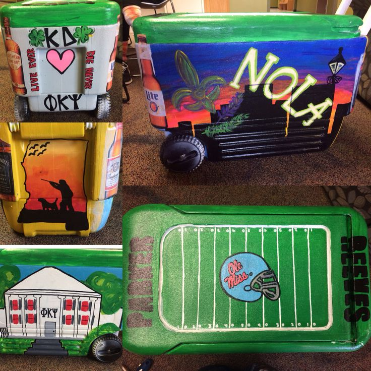 phi psi painted cooler! fraternity cooler, Nola 2015 ole miss