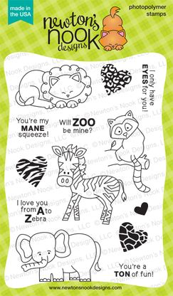 Wild About Zoo | 4x6 photopolymer Zoo/Valentine Stamp Set | Newton's Nook Designs $14.99 http://www.newtonsnookdesigns.com/wild-about-zoo/