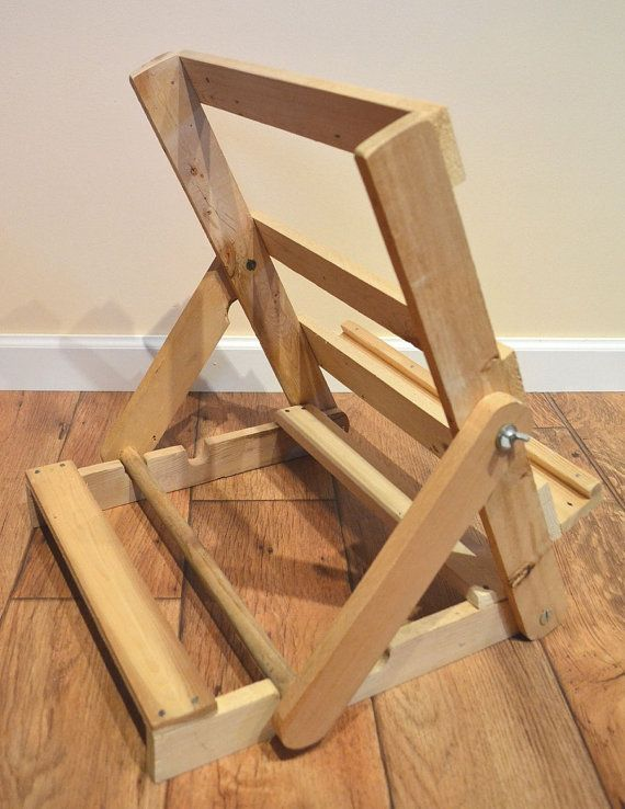 Natural Upcycled Pallet Wood Portable Art Easel By Justaboute