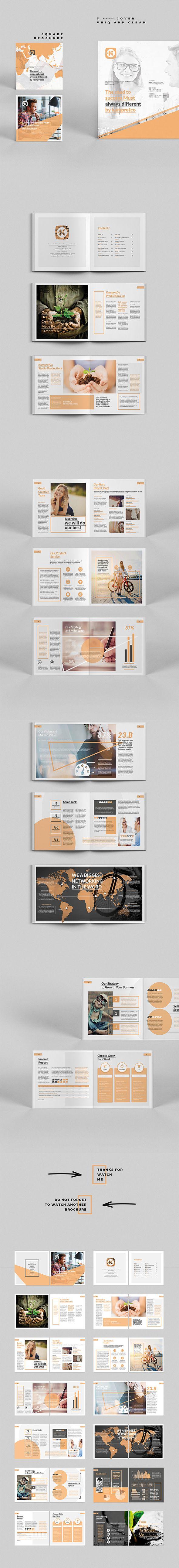 Ознакомьтесь с этим проектом @Behance: «Square Multipurpose Brochure» https://www.behance.net/gallery/44260341/Square-Multipurpose-Brochure