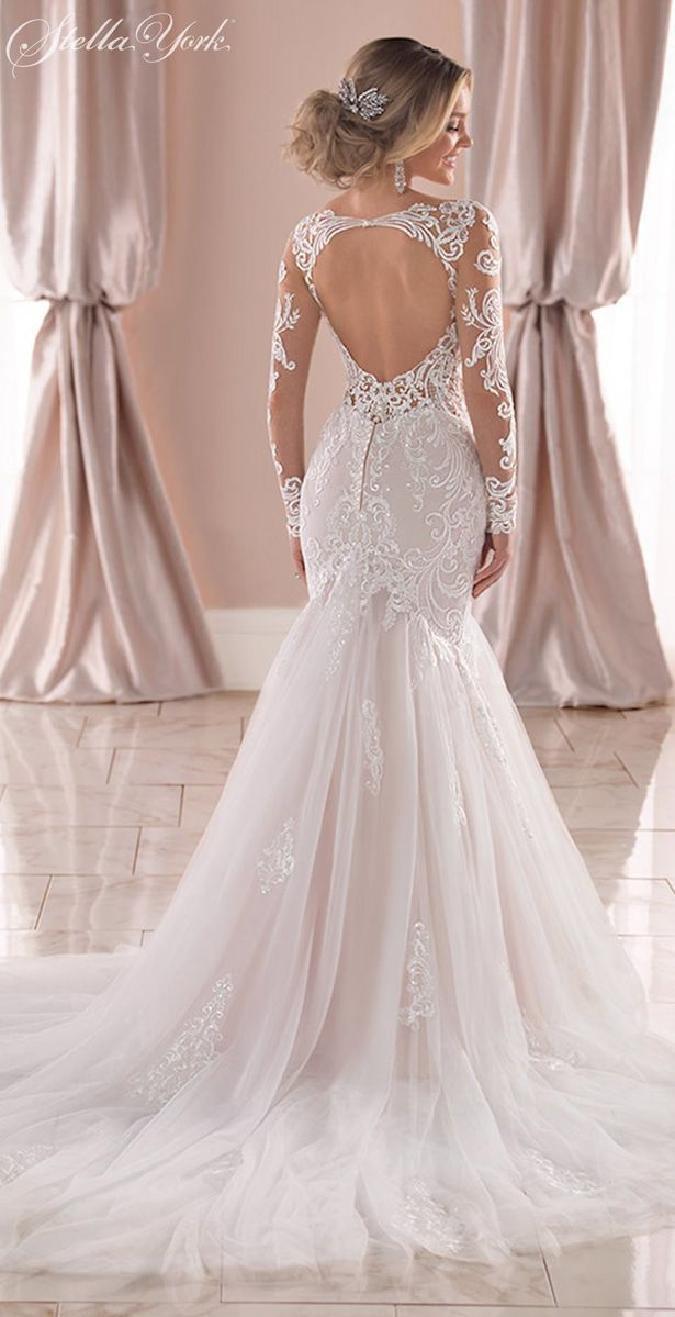 Gorgeous Long Sleeves Wedding Dresses That Are Bridal Goals Long Sleeve Mermaid Wedding Dress Form Fitting Wedding Dress Bridesmaid Dresses Boho