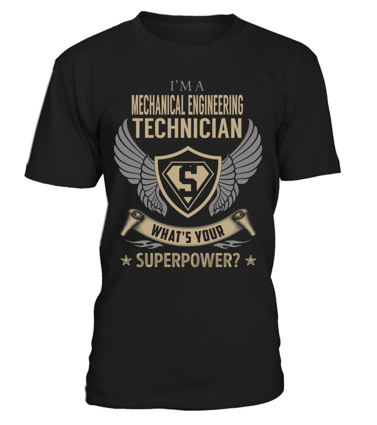 Mechanical Engineering Technician Superpower Job Title T-Shirt #MechanicalEngineeringTechnician