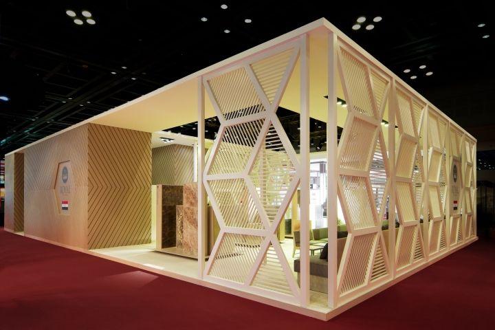 Royal Ceramica stand by Paolo Cesaretti, Dubai – UAE