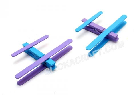 Popsicle stick airplanes instructions how to make cool for Cool popsicle stick creations