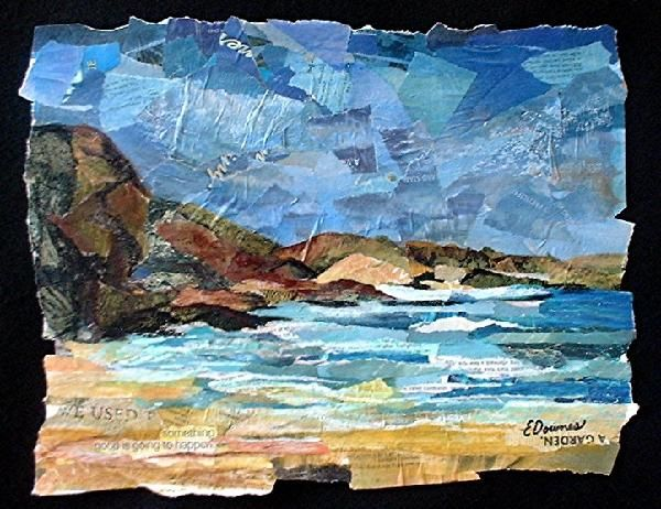 Eileen Downes Stinson Beach Collage In 2019 Collage