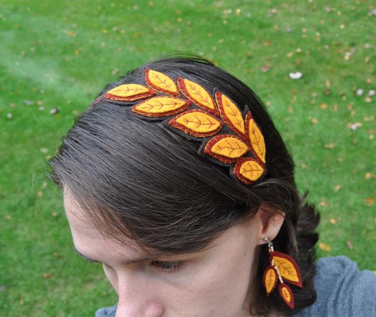 Autumn Leaves Felt Headband