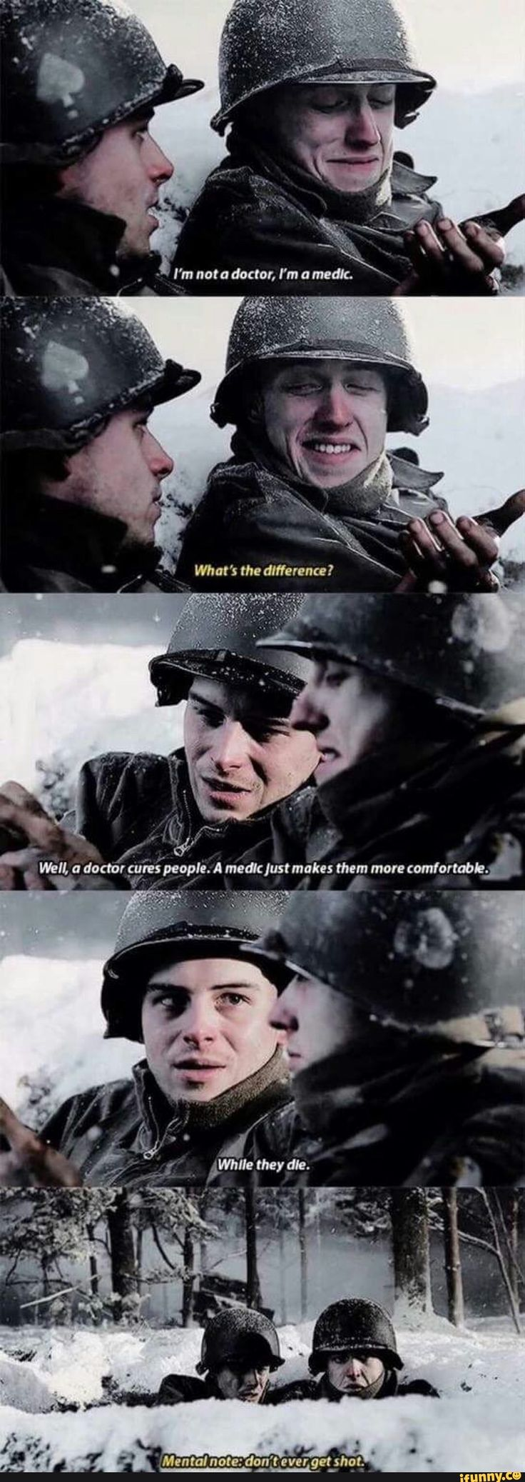 Band of Brothers. I watched that show it was good. Also accurate sadly
