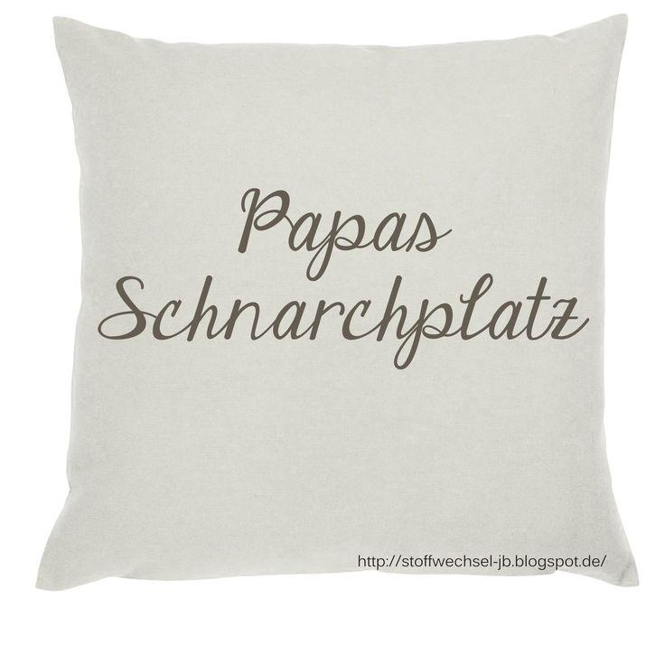 Vatertagsgeschenk, Papa, Geschenk, Männergeschenk, Kissen, Pillow, Cushion  http://stoffwechsel-jb.blogspot.de/