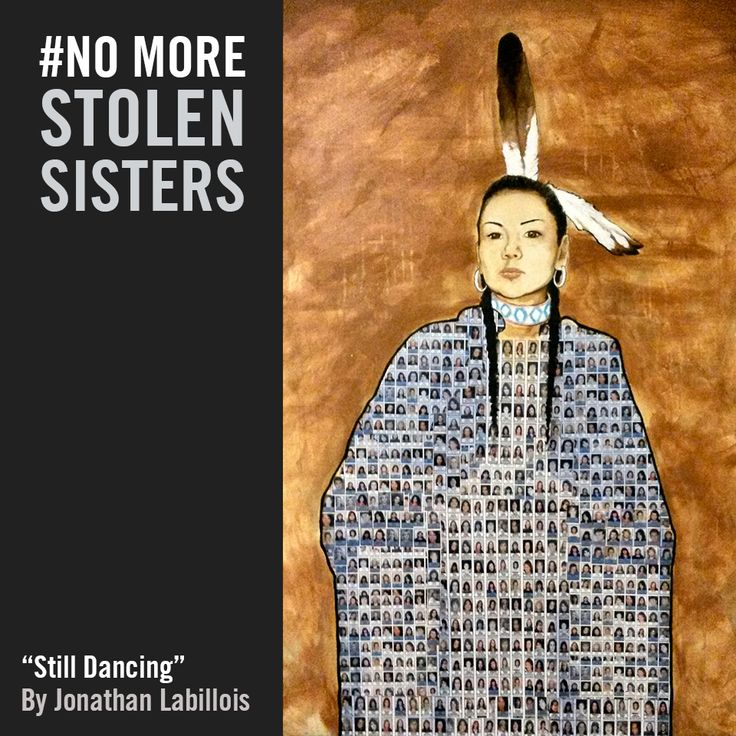 """On the International Day for the Elimination of Violence against women, we remember and honour Indigenous women and girls who have lost their lives to violence.  The Globe and Mail recently reported that Indigenous women and girls in Canada are roughly 7 times more likely to be targeted by serial predators. Another reason why an inquiry is so urgent.  This moving artwork called """"Still Dancing"""", is by Canadian Indigenous artist, Jonathan Labillois."""