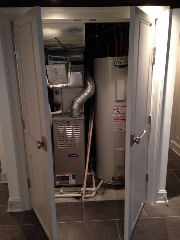 Water Heater And Furnace Closet Basement Remodeling Basement Laundry Room