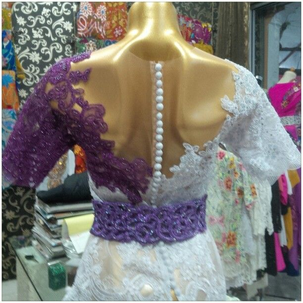 White purple lace - back
