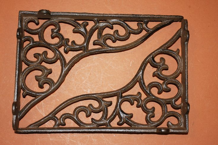 Vintage-look Decorative Shelf Brackets, Large Shelf Brackets, Heavy Cast Iron, Victorian, Rustic,Country Cottage,Free Shipping,B-18 by WePeddleMetal on Etsy