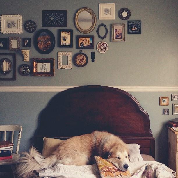++ photo . kristin rogers: Mirror, Bedroom Gallery Walls, Bedroom Complete, Cozy Bedroom, Collage Wall, Mixed Frames, Art Wall, Bedroom Ideas