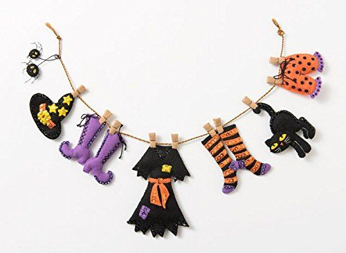 Plaid 86688 Bucilla Felt Applique Wall Hanging Kit, Witch...