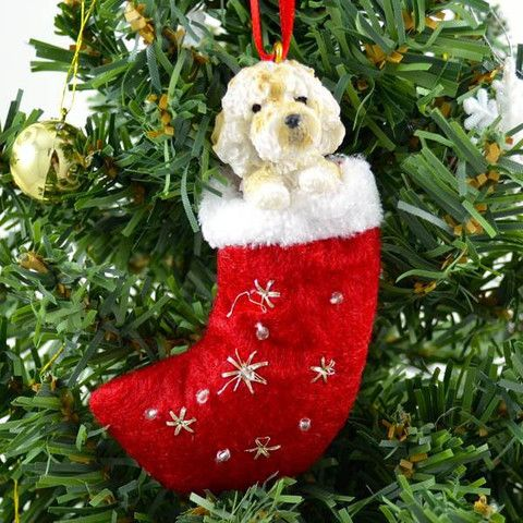 Goldendoodle Stocking Christmas Ornament