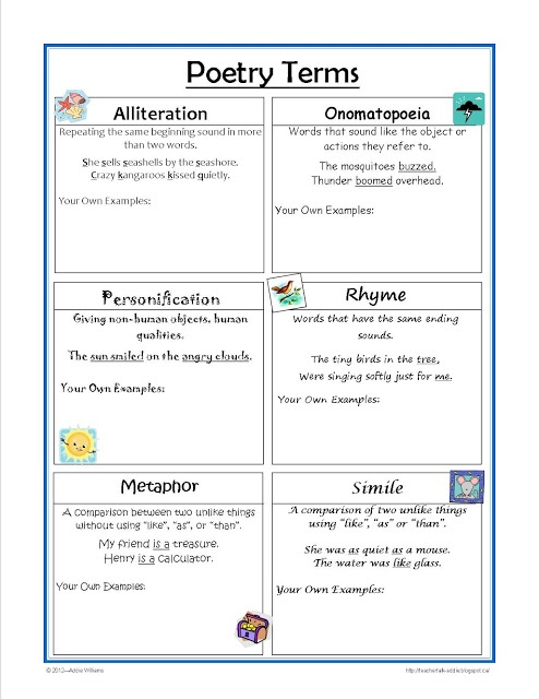 a glossary of literary terms teaching and learning to standards