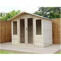 8ft x 6ft Summerhouse Pressure Treated Tongue & Groove