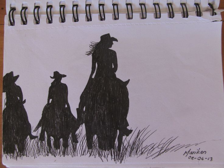Pen art: My sisters and I on the farm