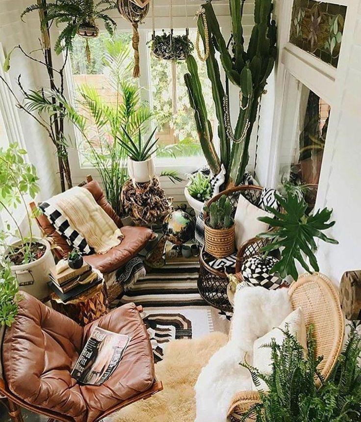 Pinterest Fab5ever Instagram Brunette Traveler Room With Plants Small Sunroom Sunroom Decorating